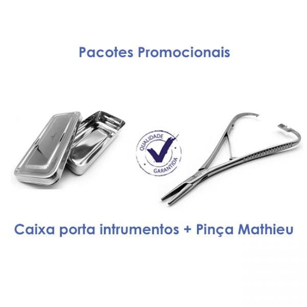 Caixa Porta Instrumentos + Pinça Mathieu