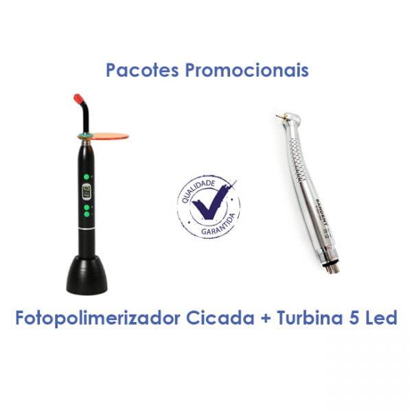 Fotopolimerizador Cicada + Turbina 5 Led